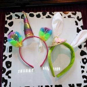 BOGO Unicorn and bunny headbands Easter dressup
